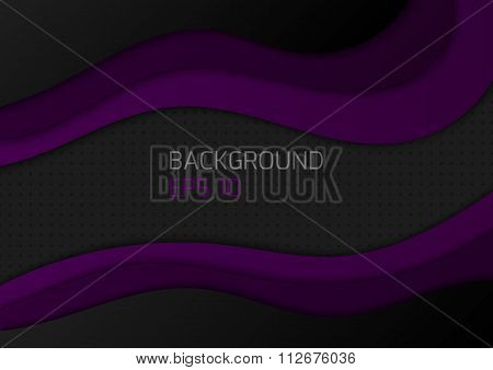 Vector illustration background with waves
