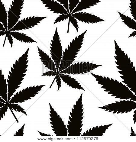 Seamless marijuana leaves