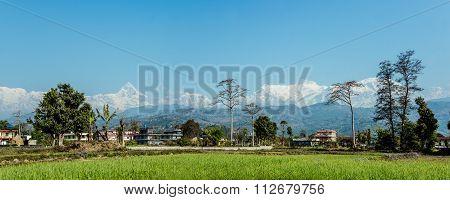 Panoramic View Of Annapurna Range From Pokhara