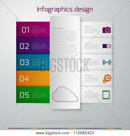 Vector illustration infographics paper strips