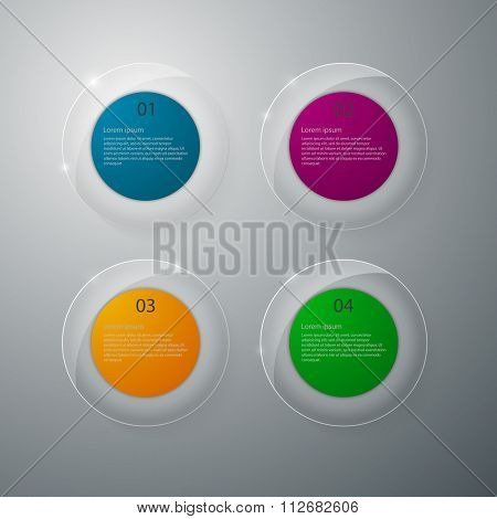 Vector illustration infographics glass circles