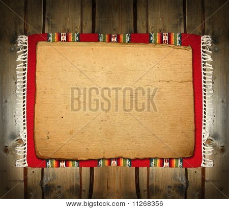 The Textile Traditional Mat On Wood Backdrop