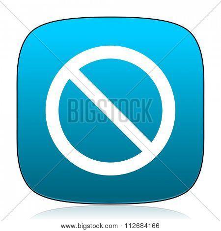 access denied blue icon