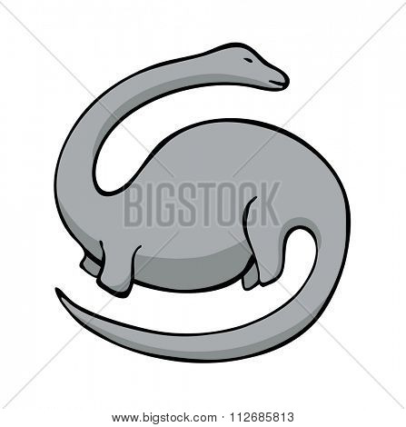 illustration of cartoon diplodocus dinosaur