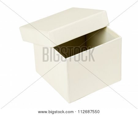 Open white box