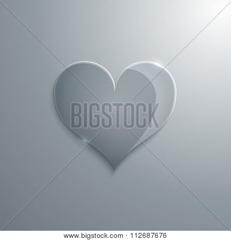 Vector illustration of a heart glass