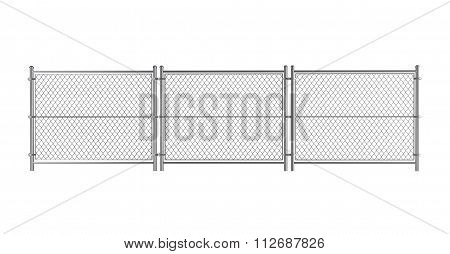 Metal Wired Fence