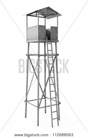 Old Wooden Watch Guard Tower