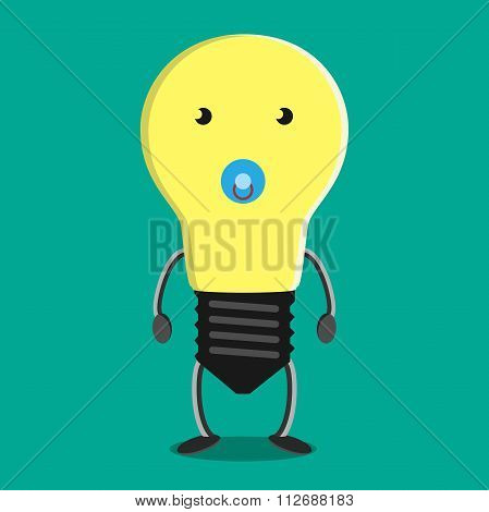 Young Child Lightbulb Character