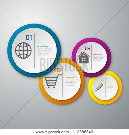 Vector illustration infographics paper circles