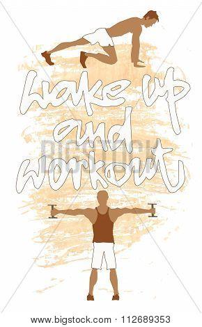Sport motivation poster.