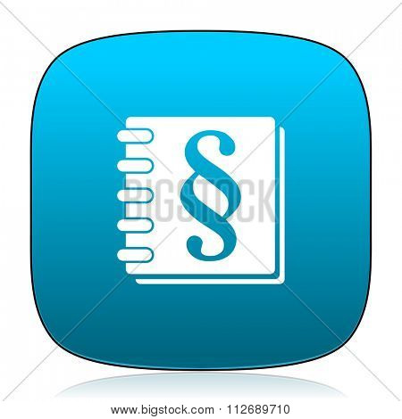 law blue icon