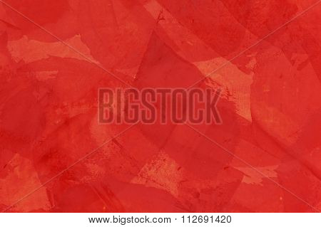 Wall With Red Putty