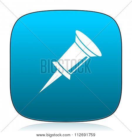 pin blue icon