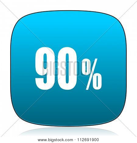 90 percent blue icon