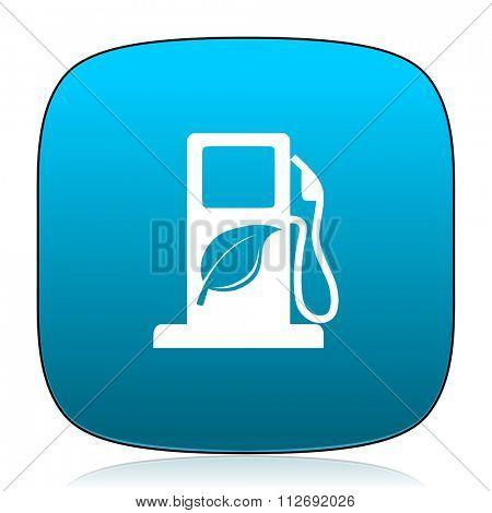 biofuel blue icon