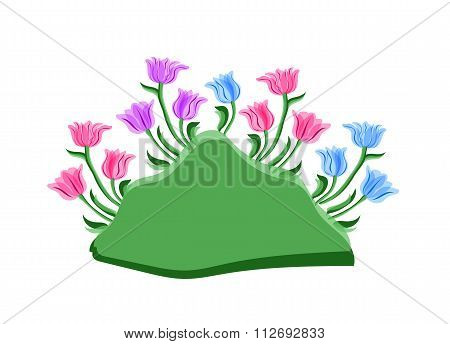Background with tulips with space for text.