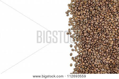 Grains of roasted coffee