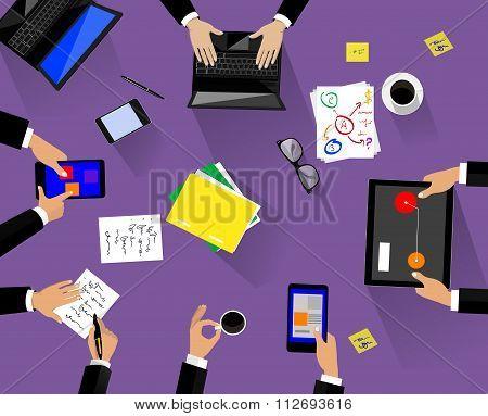 Different Professions Illustration