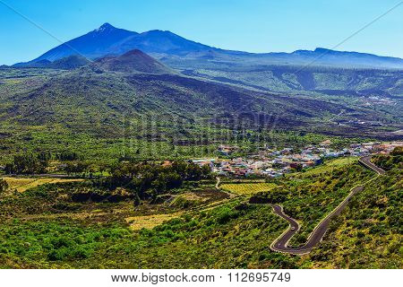 Valley Landscape In Tenerife Island