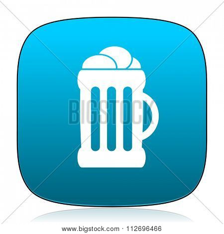 beer blue icon