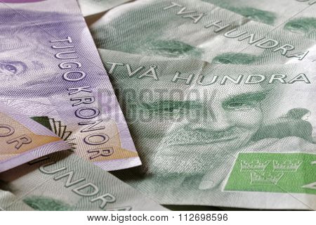 Swedish Currency, 20 Sek And 200 Sek, New Layout 2015