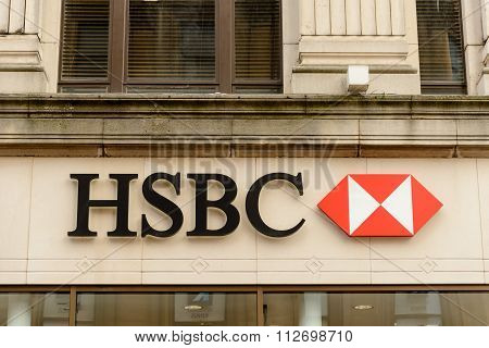 Sign on HSBC building