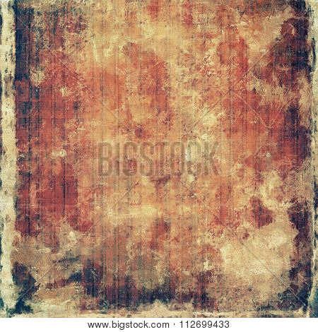 Grunge colorful texture for retro background. With different color patterns: yellow (beige); brown; red (orange); black