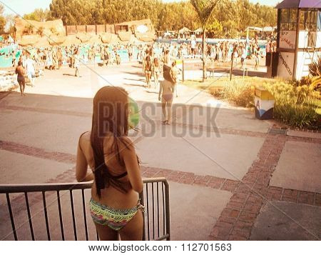 Girl in the waterpark