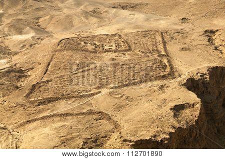Ruins of Roman Base Camp at Masade
