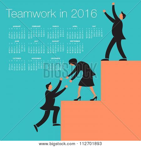 2016 Teamwork calendar