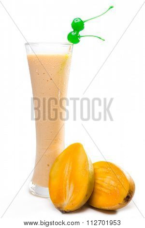 Refreshing mango juice with milk