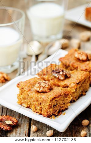 Chickpeas Walnuts Blondies