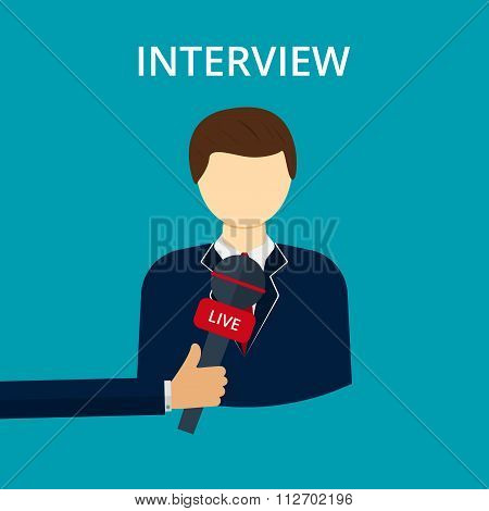 Vector illustration interview