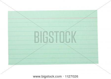 Index Card Lined Green