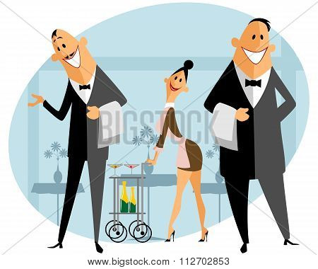 Staff In The Restaurant