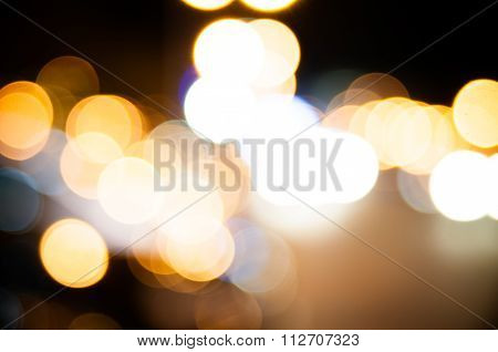 Abstract circular bokeh background.
