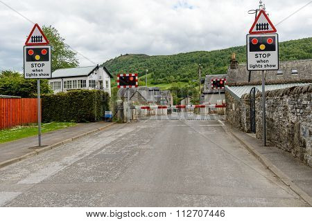 Level Crossing Blair Atholl.