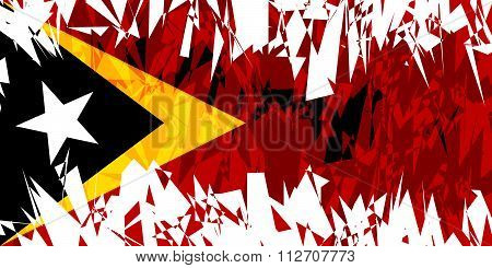 Flag Of East Timor.