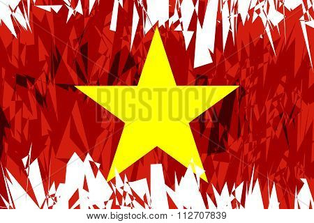 Flag Of Vietnam.