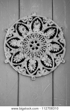 Vintage iron door hatch