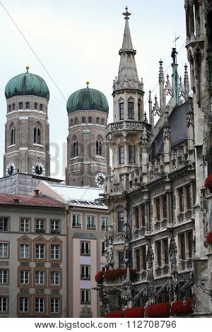 Marienplatz In Munich, German