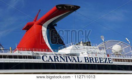Carnival Breeze docked in La Romana, Dominican Republic