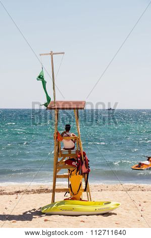 Lifeguard At Beach, Palma De Mallorca