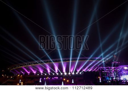 Spodek - Sport And Cultural Arena In Katowice, Poland.