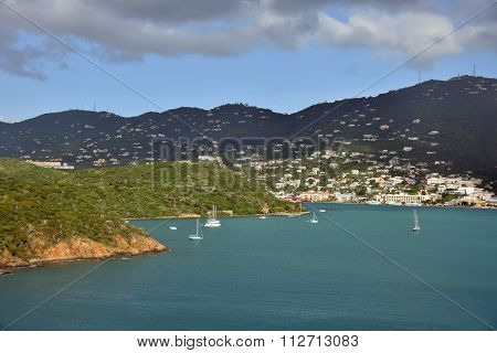 Sailboat Near St Thomas Usvi