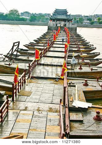 Ancient Bridge Made From Boats