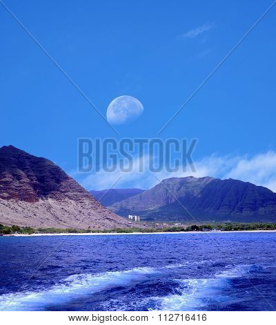 Moonrise Oahu Hawaii