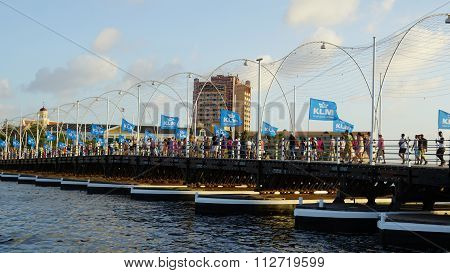 Queen Emma Pontoon Bridge in Curacao