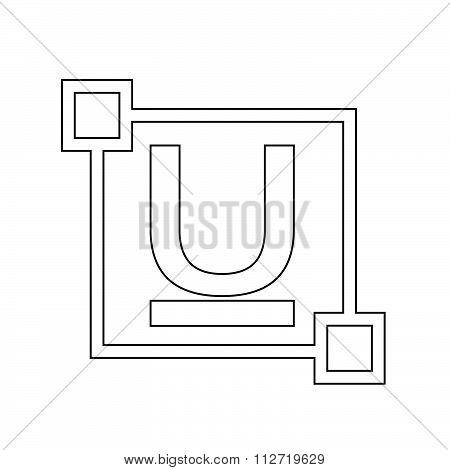 Ubderline Text Font Edit Letter Icon